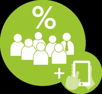 Schritt 2:: <br>Status-Quo-Bewertung: Hier kommt das BGM Bilanz Team zusammen und bewertet den IST-Zustand. Spannend und gut moderiert durch uns! Über die parallel veröffentliche APP beteiligen sich alle anderen Mitarbeiter/-innen. Die App-Ergebnisse fließen in die Workshops mit ein.