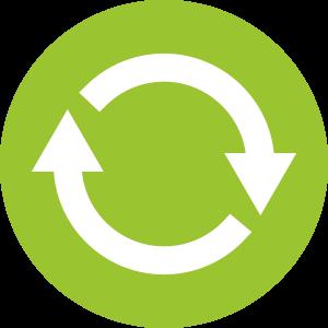Schritt 9:: <br>Update nach 1 Jahr: Der KVP (kontinuierliche Verbesserungsprozess) nimmt an Fahrt auf, wenn die Umsetzung der Maßnahmen und die damit verbundene positive Wirkung in einem 'Update' bewertet wird.